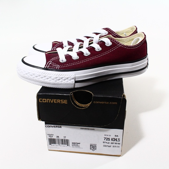 eb2e4f592d566f KIDS CONVERSE ALL STAR CHUCK LOW 339794F BURGUNDY